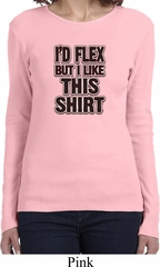 Ladies Fitness Shirt Id Flex Long Sleeve Tee T-Shirt