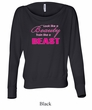 Ladies Fitness Shirt Look Like a Beauty Off Shoulder Tee T-Shirt