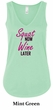 Ladies Fitness Tanktop Squat Now Wine Later Flowy V-neck Tank Top