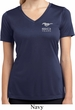 Ladies Ford 50 Years Pocket Print Moisture Wicking V-neck Shirt