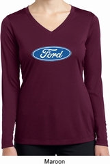 Ladies Ford Oval Dry Wicking Long Sleeve Shirt
