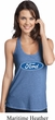 Ladies Ford Oval T-Back Tank Top