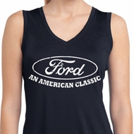 Ladies Ford Shirt American Classic Sleeveless Moisture Wicking Shirt