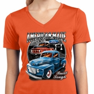 Ladies Ford Shirt American Made Moisture Wicking V-neck Shirt