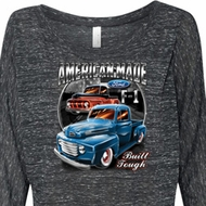 Ladies Ford Shirt American Made Off Shoulder Shirt