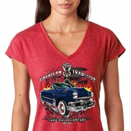 Ladies Ford Shirt American Tradition Tri Blend V-Neck Shirt
