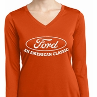Ladies Ford Shirt An American Classic Dry Wicking Long Sleeve Shirt