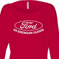 Ladies Ford Shirt An American Classic Off Shoulder Shirt