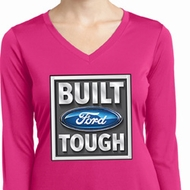 Ladies Ford Shirt Built Ford Tough Dry Wicking Long Sleeve Shirt