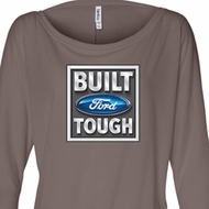 Ladies Ford Shirt Built Ford Tough Off Shoulder Tee T-Shirt