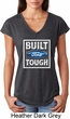 Ladies Ford Shirt Built Ford Tough Tri Blend V-Neck Shirt