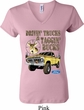 Ladies Ford Shirt Driving and Tagging Bucks V-neck Shirt