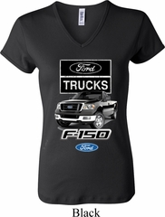 Ladies Ford Shirt F-150 Truck V-neck Shirt