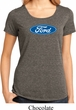 Ladies Ford Shirt Ford Oval Lace Back Tee T-Shirt