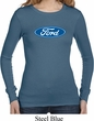 Ladies Ford Shirt Ford Oval Long Sleeve Thermal Tee T-Shirt