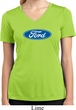 Ladies Ford Shirt Ford Oval Moisture Wicking V-neck Tee T-Shirt