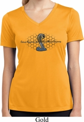 Ladies Ford Shirt Powered By Cobra Moisture Wicking V-neck Shirt