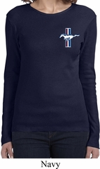 Ladies Ford Shirt The Legend Lives Crest Long Sleeve Tee T-Shirt