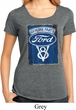 Ladies Ford Shirt V8 Genuine Ford Parts Lace Back Tee T-Shirt