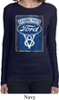 Ladies Ford Shirt V8 Genuine Ford Parts Long Sleeve Tee T-Shirt
