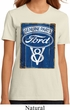 Ladies Ford Shirt V8 Genuine Ford Parts Organic Tee T-Shirt