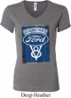 Ladies Ford Shirt V8 Genuine Ford Parts V-neck Tee T-Shirt