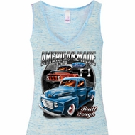 Ladies Ford Tanktop American Made Flowy V-neck Tank Top
