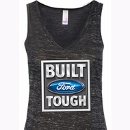 Ladies Ford Tanktop Built Ford Tough Flowy V-neck Tank Top