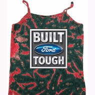 Ladies Ford Tanktop Built Ford Tough Tie Dye Camisole Tank Top