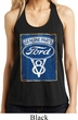 Ladies Ford Tanktop V8 Genuine Ford Parts Shimmer Loop Back Tank Top