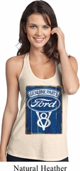 Ladies Ford Tanktop V8 Genuine Ford Parts T-Back Tank Top