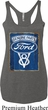 Ladies Ford Tanktop V8 Genuine Ford Parts Tri Blend Racerback Tank Top