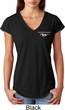 Ladies Ford Tee Mustang Pocket Print Tri Blend V-neck