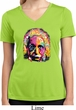 Ladies Shirt Albert Einstein Moisture Wicking V-neck Tee T-Shirt