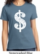 Ladies Funny Shirt Distressed Dollar Sign Tee T-Shirt