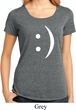 Ladies Funny Shirt Smiley Chat Face Lace Back Tee T-Shirt