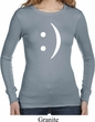 Ladies Funny Shirt Smiley Chat Face Long Sleeve Thermal Tee T-Shirt