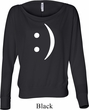 Ladies Funny Shirt Smiley Chat Face Off Shoulder Tee T-Shirt