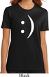 Ladies Funny Shirt Smiley Chat Face Organic Tee T-Shirt