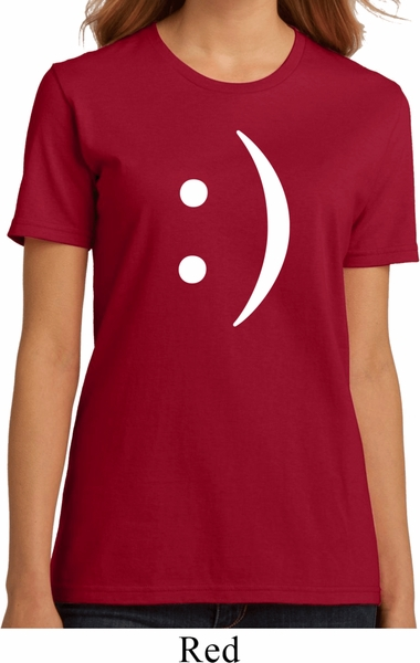 ladies funny shirt smiley chat face organic tee t shirt. Black Bedroom Furniture Sets. Home Design Ideas