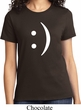 Ladies Funny Shirt Smiley Chat Face Tee T-Shirt