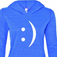 Ladies Funny Shirt Smiley Chat Face Tri Blend Hoodie Tee T-Shirt