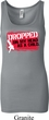 Ladies Funny Tanktop Dropped On My Head Longer Length Tank Top