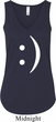 Ladies Funny Tanktop Smiley Chat Face Flowy V-neck Tank Top