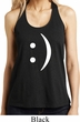 Ladies Funny Tanktop Smiley Chat Face Shimmer Loop Back Tank Top