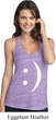 Ladies Funny Tanktop Smiley Chat Face T-Back Tank Top