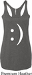 Ladies Funny Tanktop Smiley Chat Face Tri Blend Racerback Tank Top