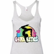 Ladies Gymnast Tanktop Neon Gymnastics Tri Blend Racerback Tank Top