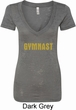 Ladies Gymnastics Shirt Gold Shimmer Gymnast Burnout V-neck T-Shirt