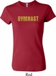 Ladies Gymnastics Shirt Gold Shimmer Gymnast Crewneck Tee T-Shirt